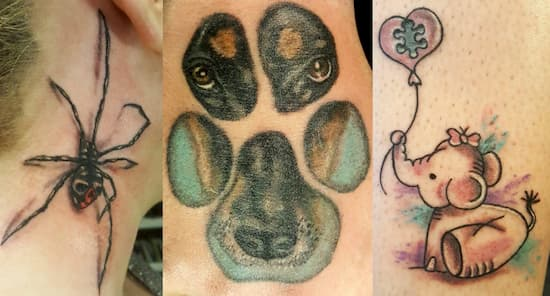 Scary and cute tattoos made by Lis