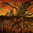 Ett mänskligt träd med synliga rötter
