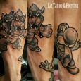 Bowser and Yoshi on a forearm