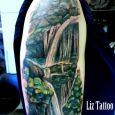 A waterfall on an arm