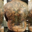 A backpiece with rockabilly theme