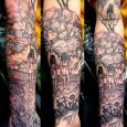 A horror inspired underarm sleeve