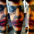 Heath Ledgers Joker på vaden i närbild