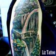 Waterfall in greenery
