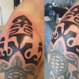 A freestyled addition to an old maori tattoo