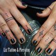 Small simple blackwork finger tattoos