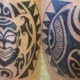 A Maori design around the leg