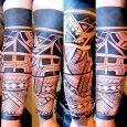 Improvised tribal style tattoo